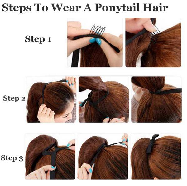 Cute Drawstring Type Curly Ponytail Hair