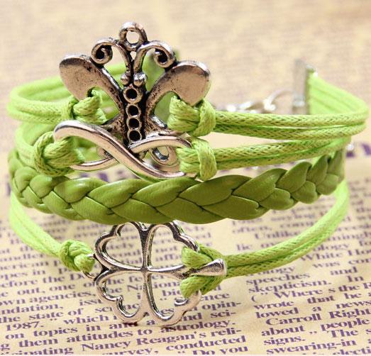 Fresh Butterfly Clover Infinity Bracelet