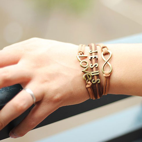 Cute Love Infinity Jesus Bracelet