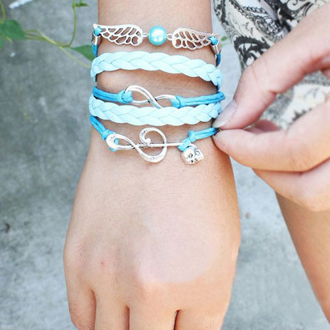 fashion Sweet Note Angel Wing Infinity Bracelet