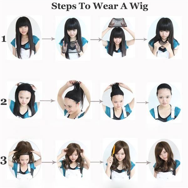Fashion Natural Wavy Long Hair Wigs