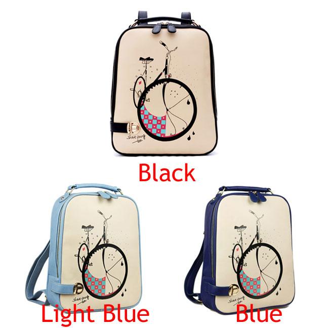 Fresh College Style Cartoon Pu Backpacks