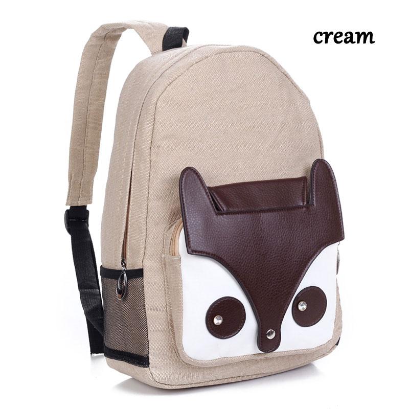 College Style Cute Fox Shoulder Bag &Backpack | Fashion Backpacks ...