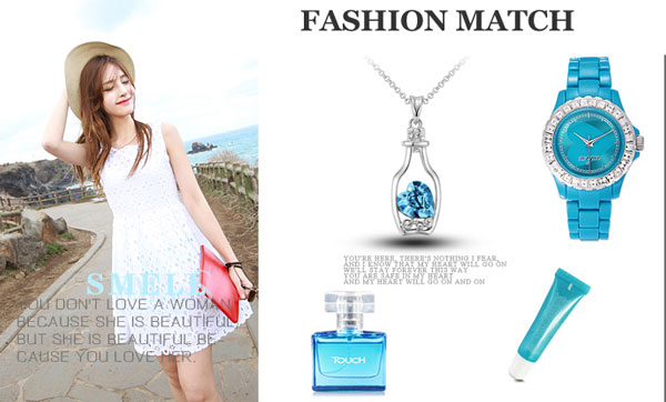 Fashion Heart Crystal Hollow Bottle Necklace
