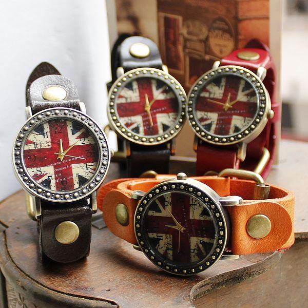 Retro britische Flagge Uhren
