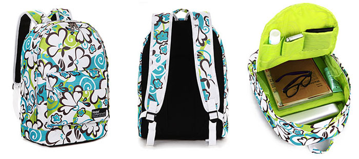 Blue Green Graffiti Waterproof School Backpack | Fashion Backpacks ...
