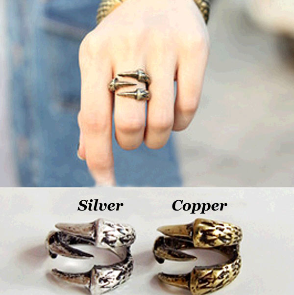 Vintage Eagle Claw Alloy Rings Jewelry