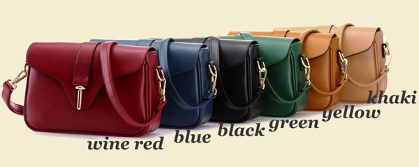 New Buckle Leather Messenger Bag Shoulder Bag
