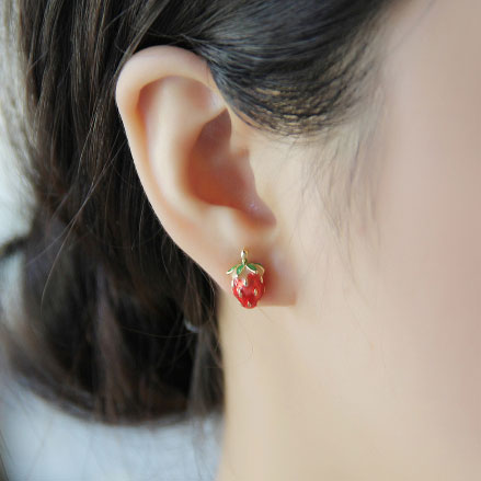 Pretty Latest Lovley Strawberry Stud Earrings