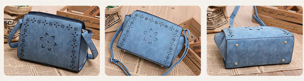 Retro Hollow Flower Bow Shoulder Bag Messenger Bag