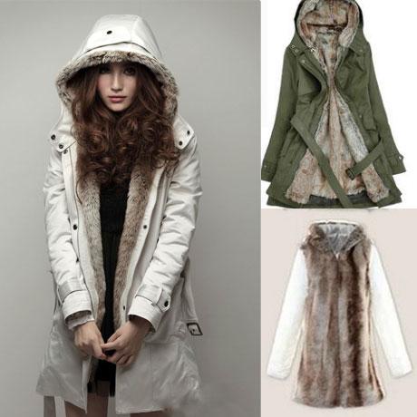 Plush Liner Thick Cotton Windbreaker/Jacket/Coat