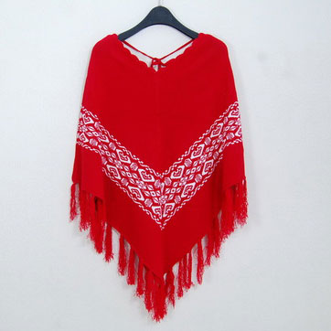 Cloak Cappa Batwing Sleeve Fringed Loose Sweater