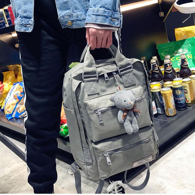 Leisure Oxford Shoulder Bag Campus School Bag Computer Bag Large Multi Pockets College Backpack