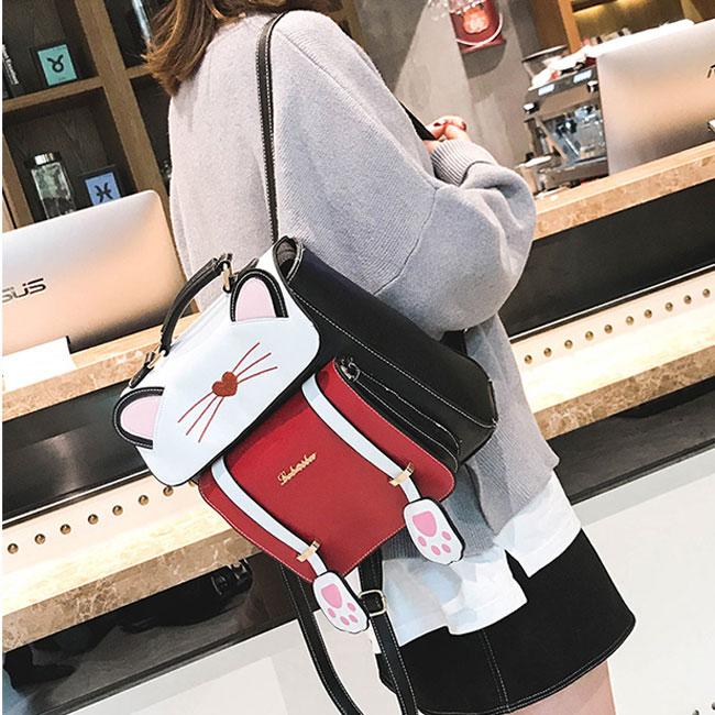 Cute Cartoon Sweet Animal Kitten School Bag Cat Girl College Backpack