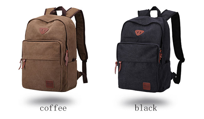 Leisure Large Travel Bag Canvas Simple Men's Backpack