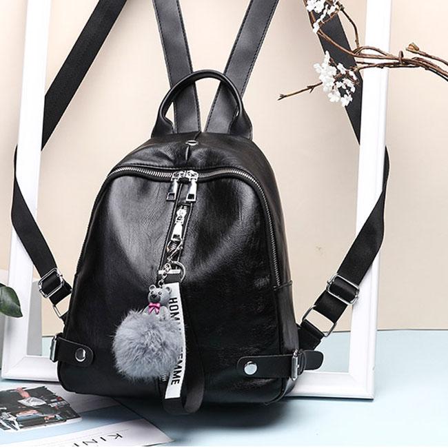Casual Black Vertical Zipper School Outdoor Sports Backpack