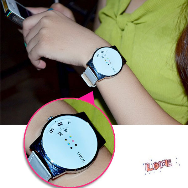 Creative Sweet Rainbow Color Wheel Watch