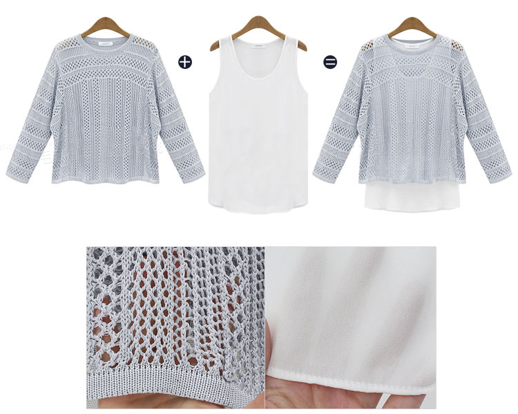 Fashionable Two-piece Set Sweater