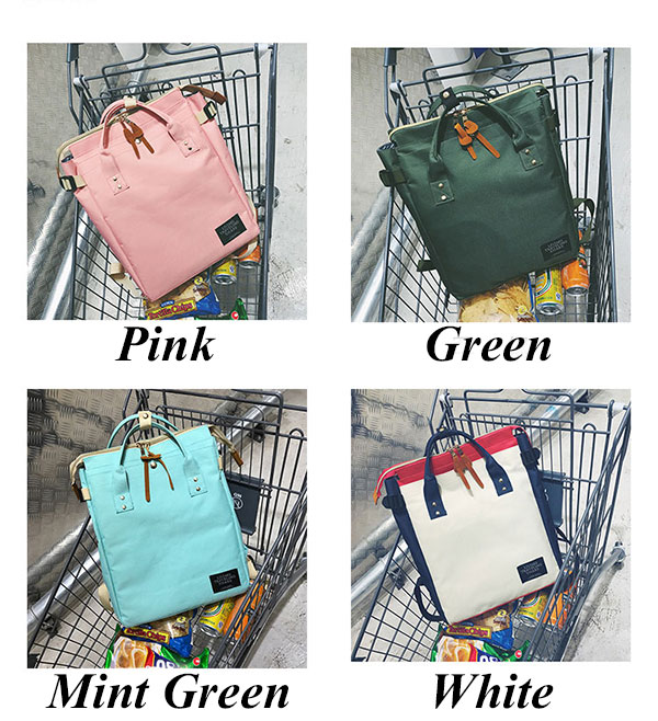 Fashion Unisex Lovers Square Large Canvas Laptop Bag Multifunction Handbag Backpack