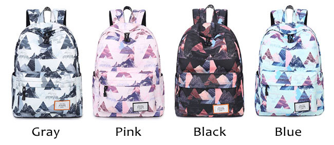 Unique Irregular Pattern College Student Large Polyester Backpack