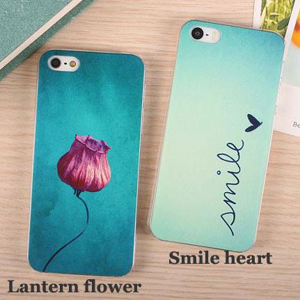 Lovely Gift Flower Letter Print Iphone Case