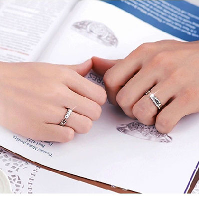 Romantic Love Letter Couple Opening Rings