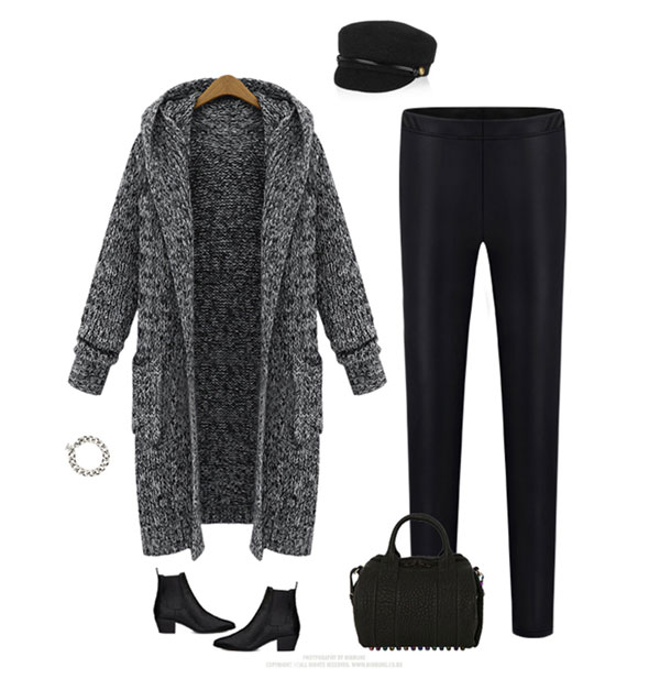 Hooded Lapel Knit Long Cardigan Sweater Coat | Coats & Jackets ...