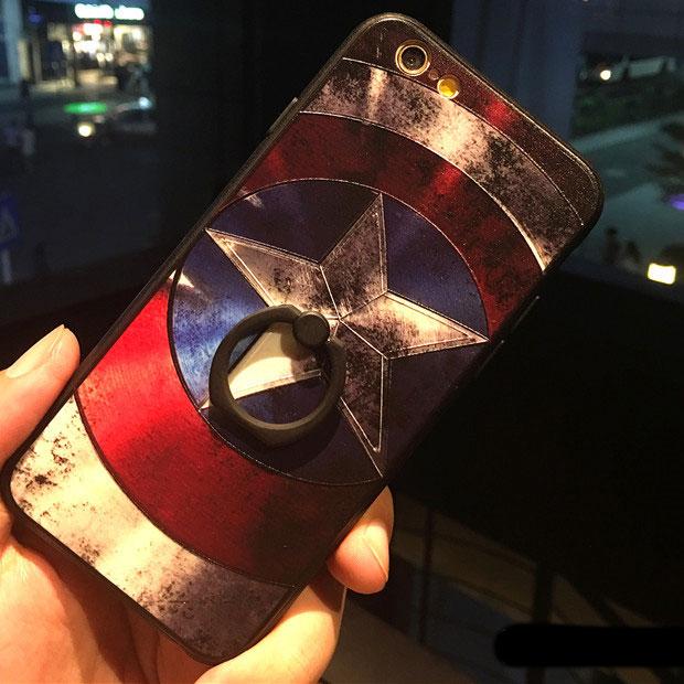 Cool Captain America Cartoon Embossed Superman Iphone 6/6 plus/7/7 plus Cases