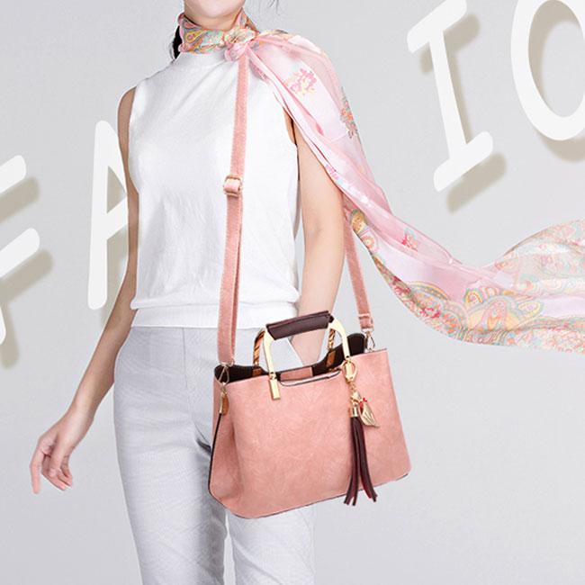 Elegant Girl's PU Leather Handbag Casual Tote Shoulder Bag