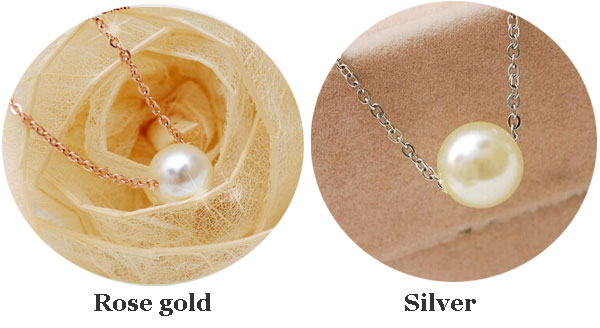 Gift Sweet One Pearl Rose Gold Necklace