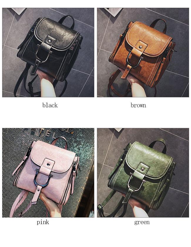 Elegant Magic Multi-function Leather Small Messenger Bag Shoulder Bag Mini Backpack