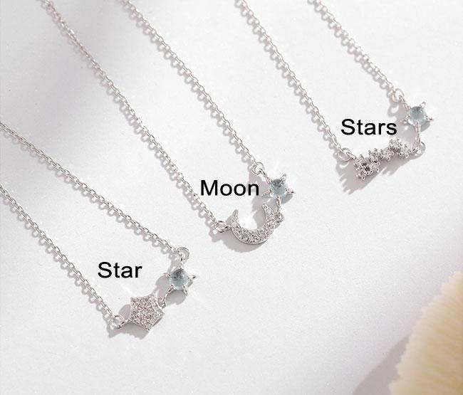 Lovely Ocean Star Moon Opal Silver Lady Bracelet