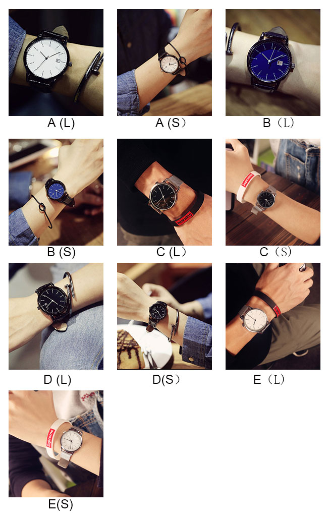 Leisure Women Retro Simple Couple Student Big Dial Watch