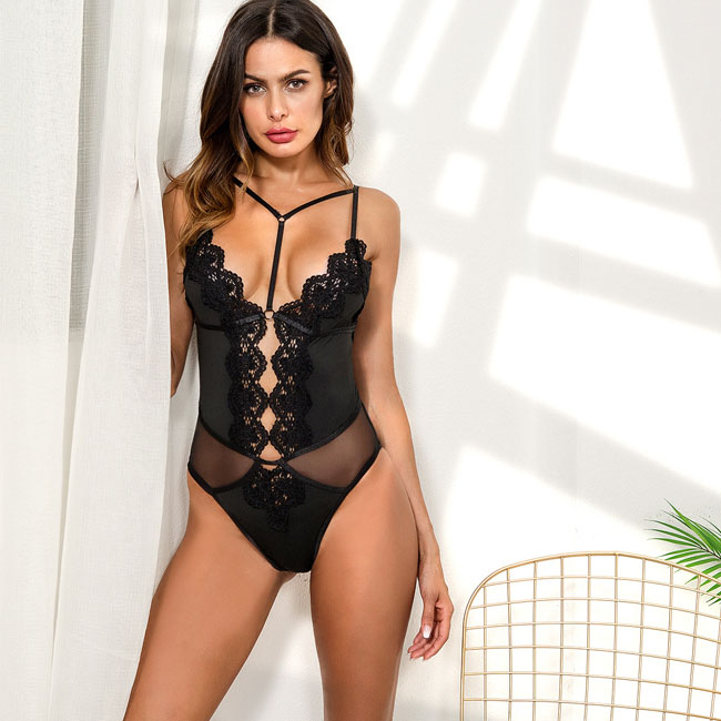 Sexy Fashion Flower Lace Embroidered Splice Bustiers Women Lingerie