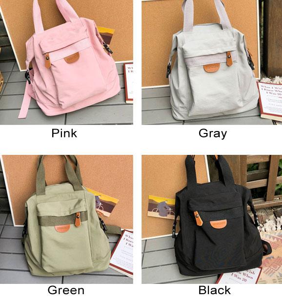 Fresh School Bag Multi-function Handbag Girl Student Backpack