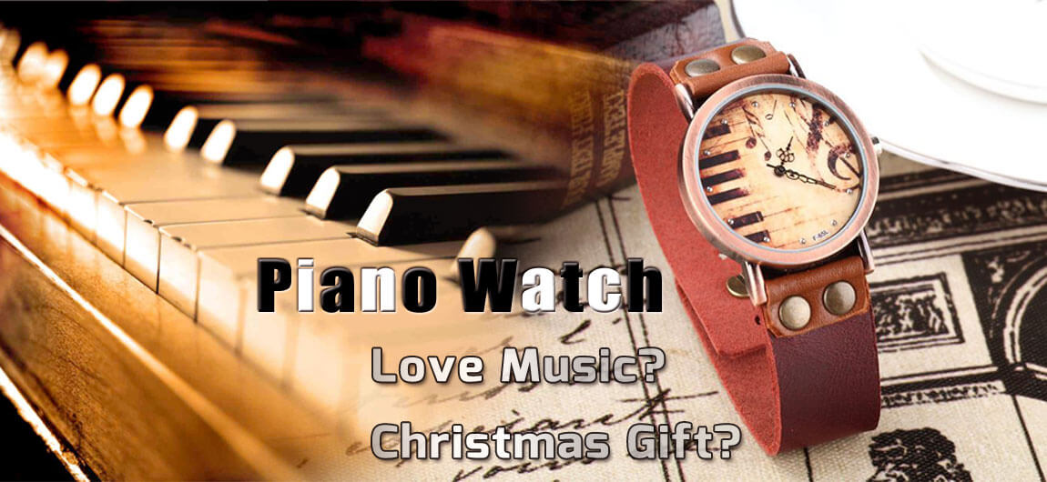 Handmade piano watch